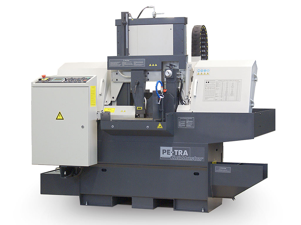 DC300A is fully automatic, high performance, 24x7, Band Saw Machine. The machine is designed, built and certified for high speed cutting with Carbide blades and, equally, for optimal use of bi-metal blades throughout its full cutting range. It offers unprecedented blade life under optimal cutting parameters.