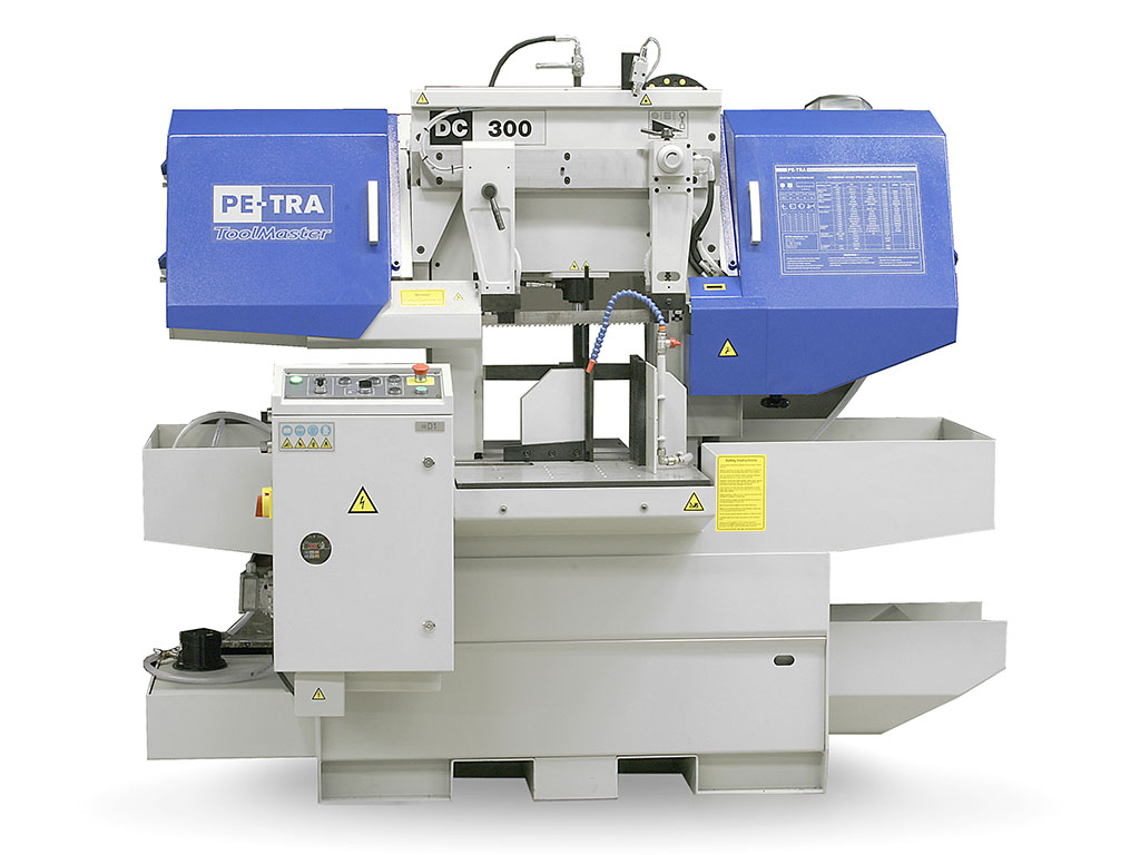 DC300XL is semi automatic, high performance Band Saw Machine. It is specifically engineered for precise cutting of 520 x 320 mm piece. This is the machine with smallest footprint for this capacity in the industry and very popular will tool makers. The machine is designed, built and certified for high speed cutting with Carbide blades and for optimal use of bi-metal blades throughout its full cutting range. Laser line pointer is standard equipment with this machine.
