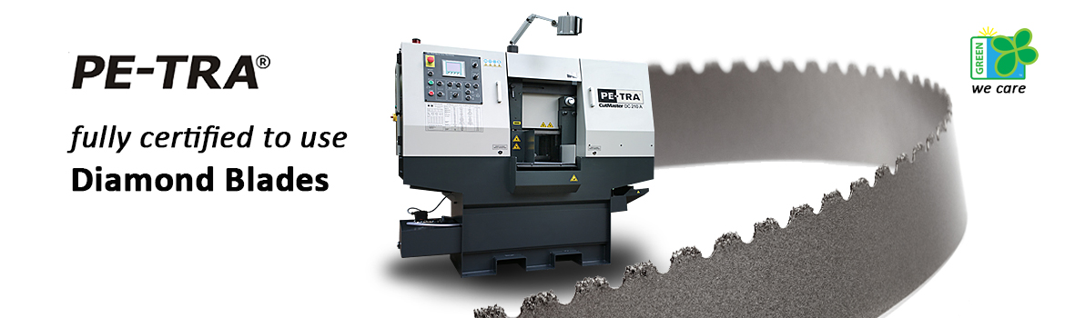 PETRA Band Saw Machines use Diamond grid blades