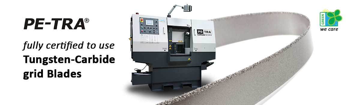 PETRA Band Saw Machines use Tungsten Carbide grid blades